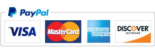 We accept Visa, Mastercard and American Express via PayPal